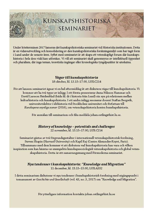 Kunskapshistoriska seminariet_ht17